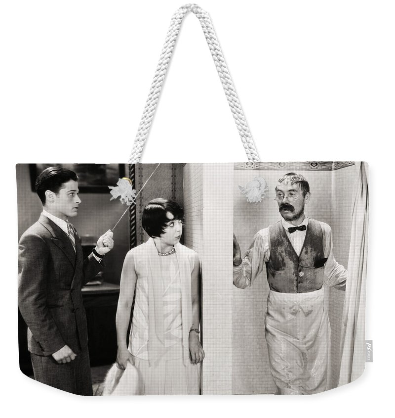 -bathing & Bathrooms- Weekender Tote Bag featuring the photograph Silent Still: Bathing by Granger