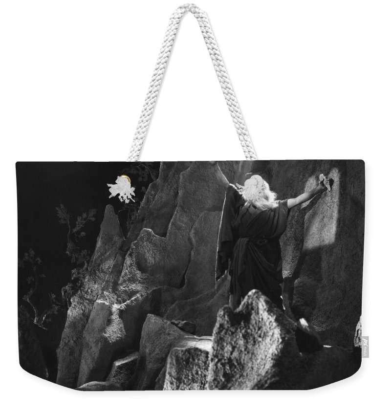 -biblical Subjects- Weekender Tote Bag featuring the photograph Silent Still: Biblical by Granger