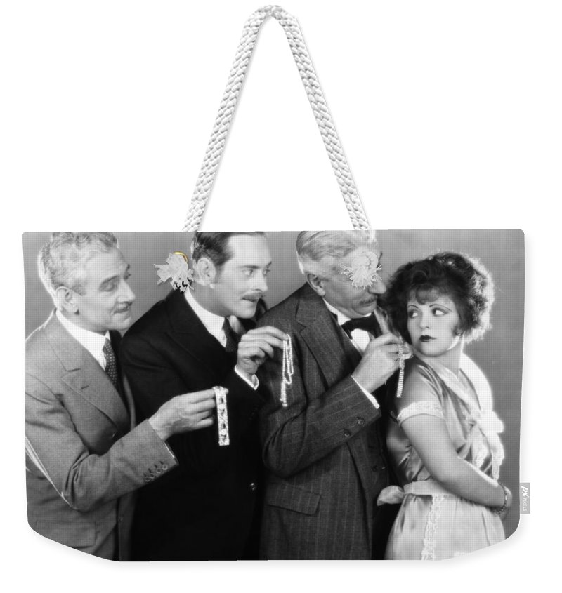 -bribery- Weekender Tote Bag featuring the photograph Silent Still: Bribery by Granger