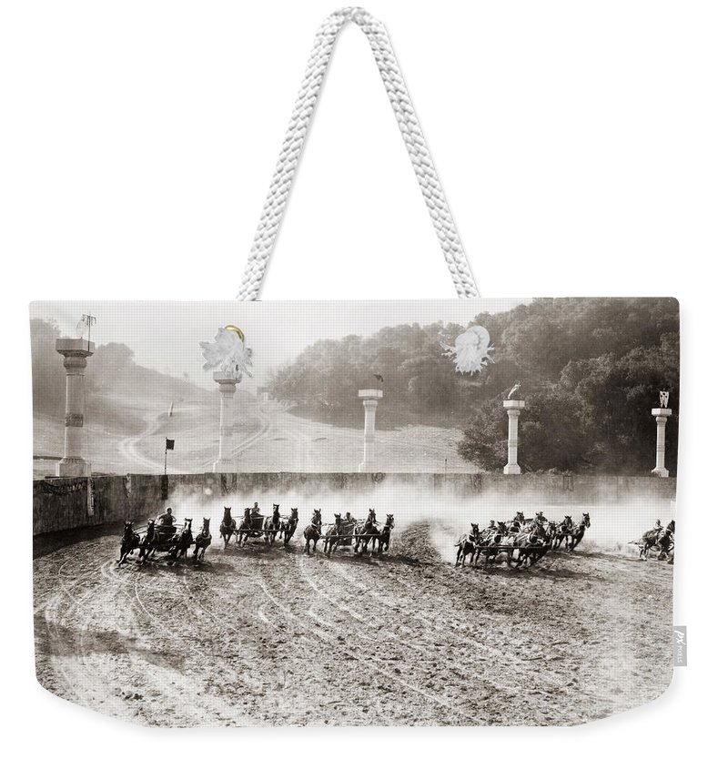 -chariot Races- Weekender Tote Bag featuring the photograph Silent Still: Chariot by Granger