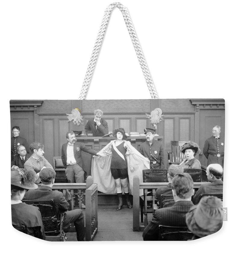 -courtroom- Weekender Tote Bag featuring the photograph Silent Still: Courtroom by Granger