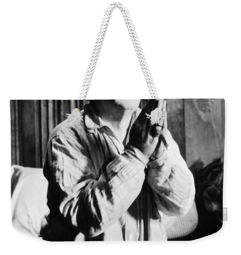 -ecq- Weekender Tote Bag featuring the photograph Silent Still: Religion by Granger
