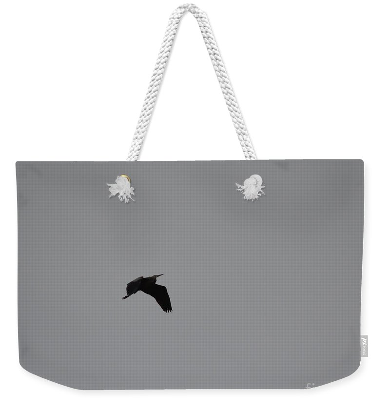 Bird Weekender Tote Bag featuring the photograph Silhouette by Donna Brown