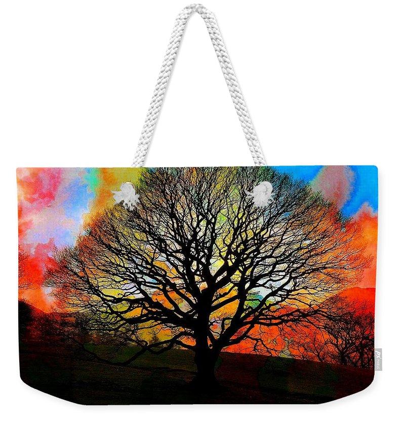 Digital Art Weekender Tote Bag featuring the digital art Silhouette In Winter by Amanda Moore