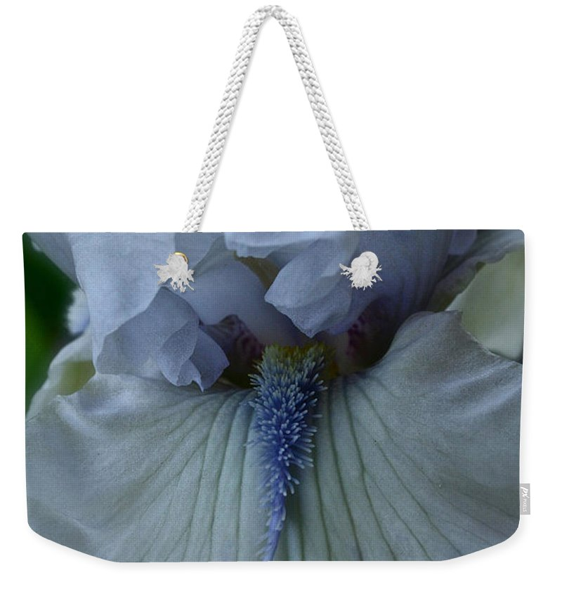 Plant Weekender Tote Bag featuring the photograph Silky Iris by Susan Herber