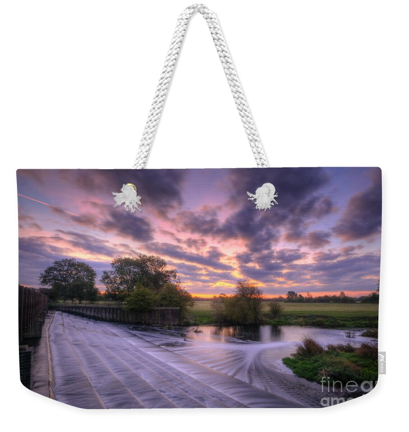Hdr Weekender Tote Bag featuring the photograph Silky Steps by Yhun Suarez