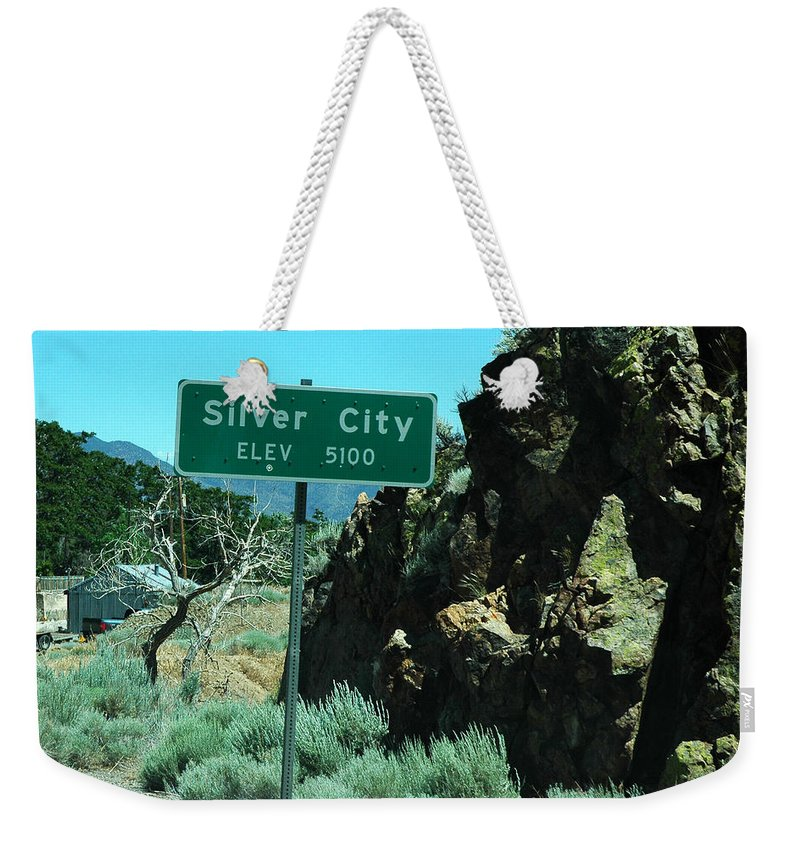 Usa Weekender Tote Bag featuring the photograph Silver City Nevada by LeeAnn McLaneGoetz McLaneGoetzStudioLLCcom