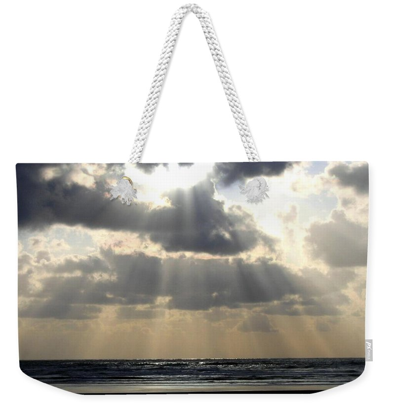 Silver Rays Weekender Tote Bag featuring the photograph Silver Rays by Will Borden