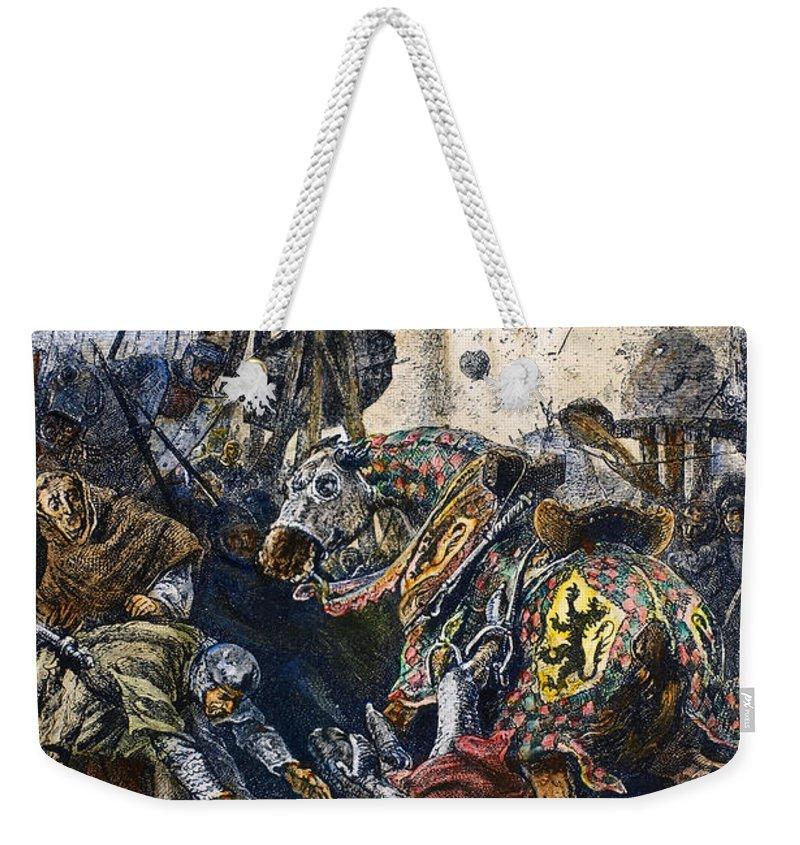 1218 Weekender Tote Bag featuring the photograph Simon De Montfort by Granger