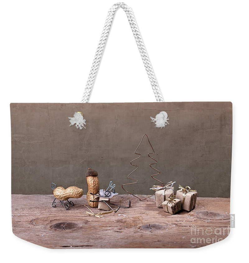 Peanut Weekender Tote Bag featuring the photograph Simple Things - Christmas 06 by Nailia Schwarz