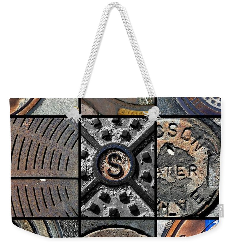 Sewers Weekender Tote Bag featuring the photograph Sinuous Sewers by Marlene Burns