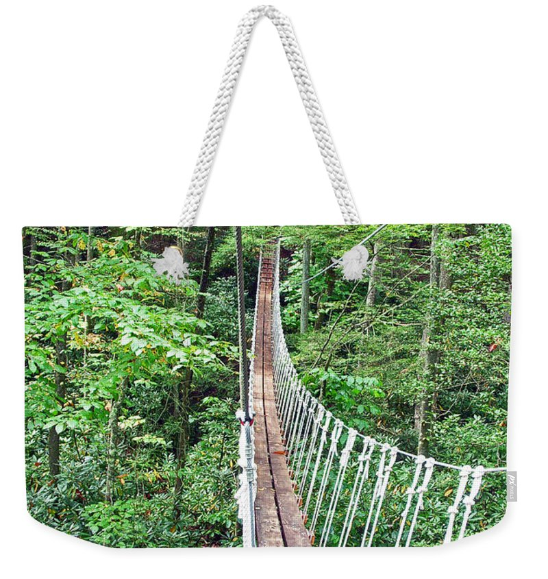 Bridge Weekender Tote Bag featuring the photograph Sky Bridge 2 by Aimee L Maher ALM GALLERY