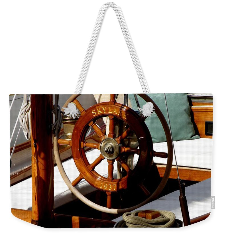 Sailboat Weekender Tote Bag featuring the photograph Skylark by Lainie Wrightson