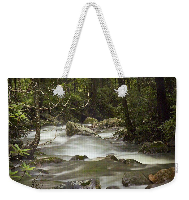 Art Weekender Tote Bag featuring the photograph Smokey Mountain Stream No.326 by Randall Nyhof