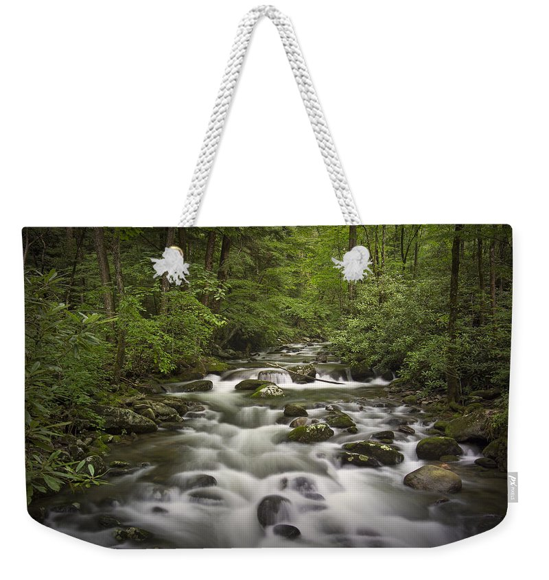 Art Weekender Tote Bag featuring the photograph Smokey Mountain Stream No.362 by Randall Nyhof