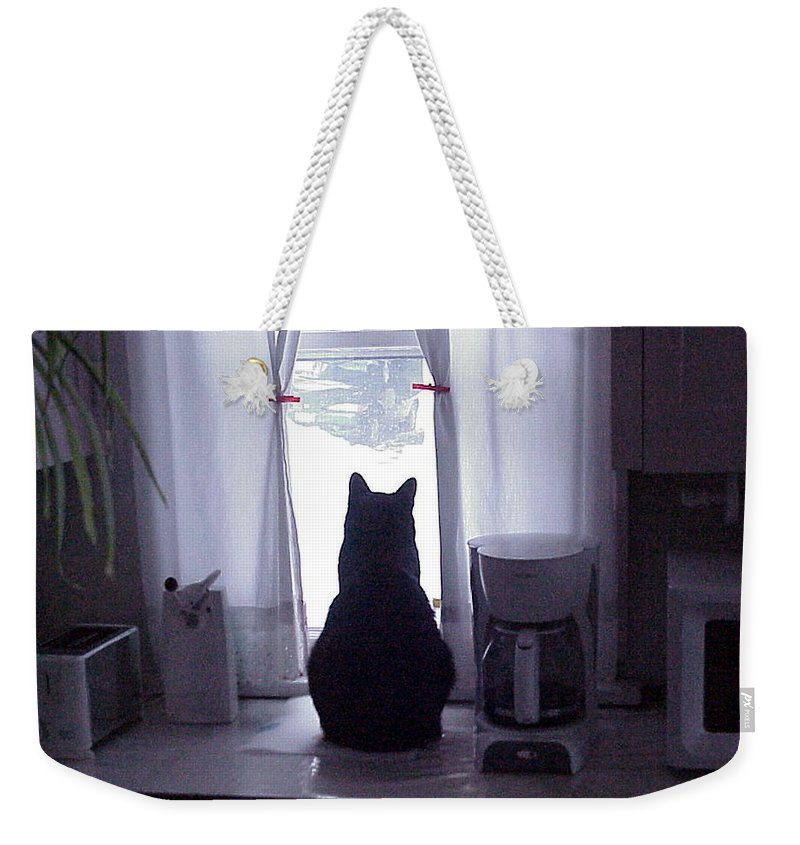 snow Bound Weekender Tote Bag featuring the photograph Snow Bound by John Bowers
