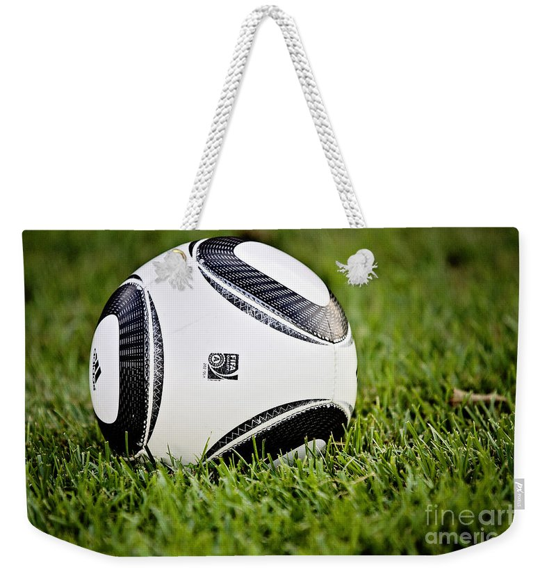 Soccer Ball Weekender Tote Bag featuring the photograph Soccer by Scott Pellegrin