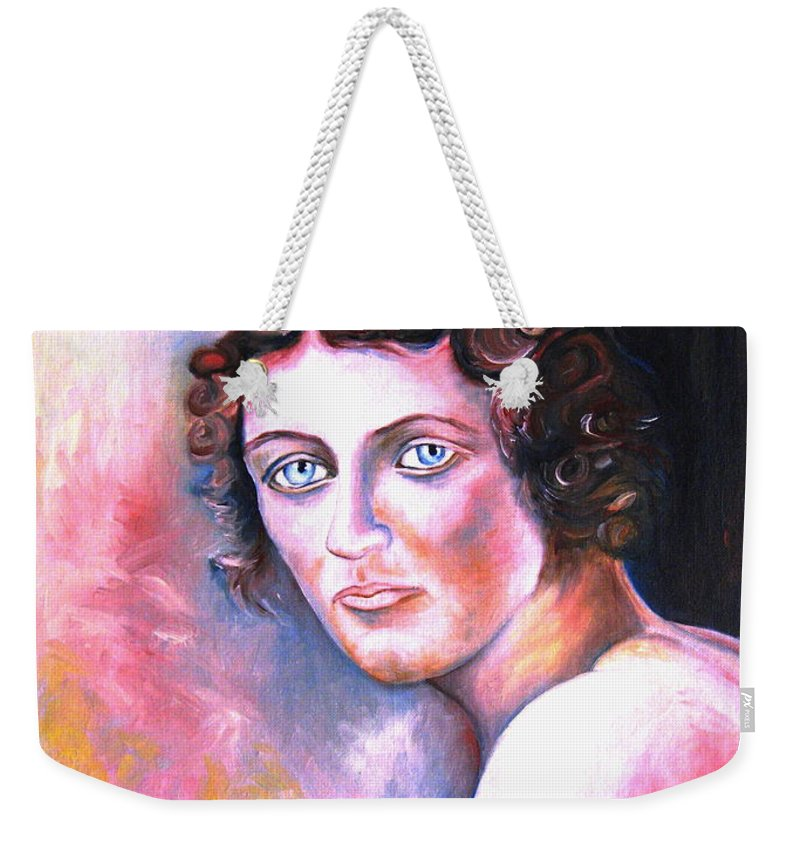 Portrait Weekender Tote Bag featuring the painting Soft Shoulder by Carole Spandau