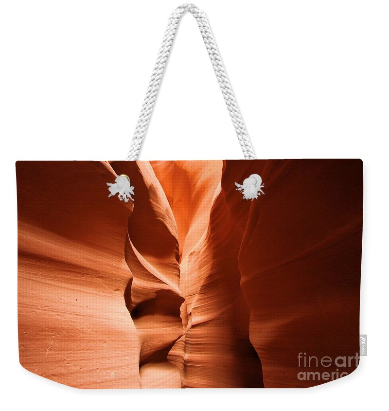 Antelope Canyon Weekender Tote Bag featuring the photograph Soft Stone by Adam Jewell