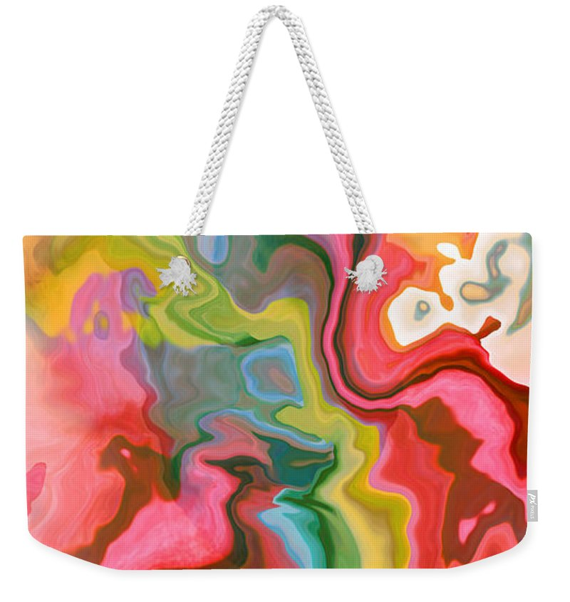 Abstract Weekender Tote Bag featuring the digital art Soft Summer Days II by Ruth Palmer