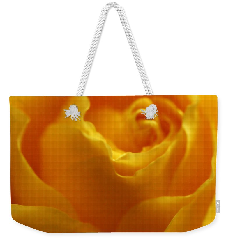 Yellow Weekender Tote Bag featuring the photograph Softness In Yellows 2 by Marilyn Hunt