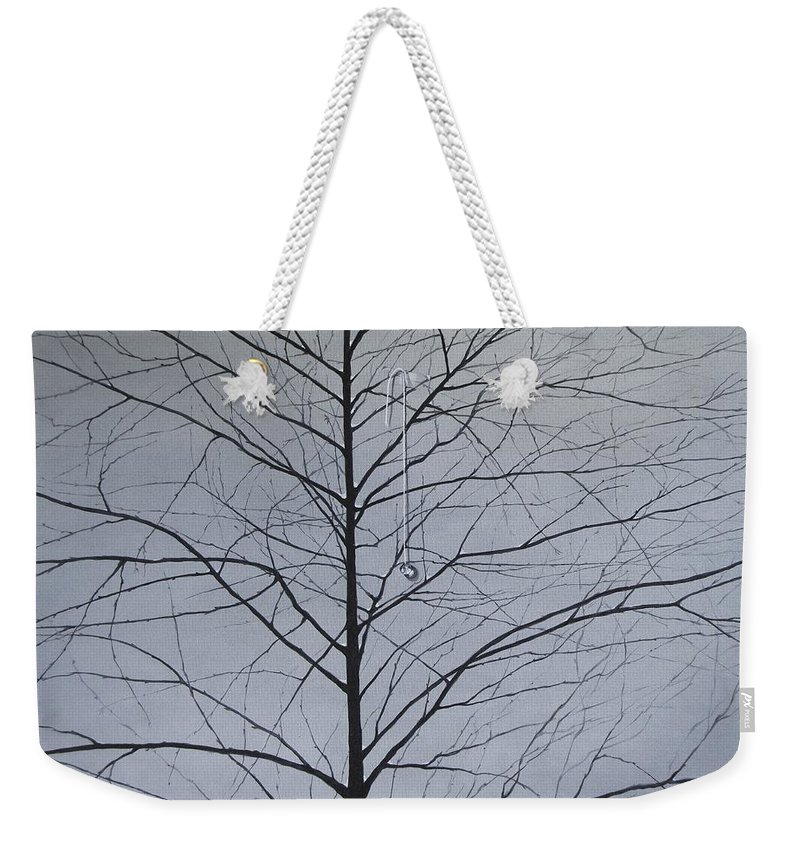Winter Trees Weekender Tote Bag featuring the painting Sorrow by Roger Calle