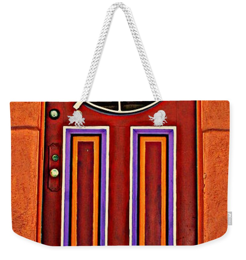 Door Weekender Tote Bag featuring the photograph Southwest Architecture by Susanne Van Hulst