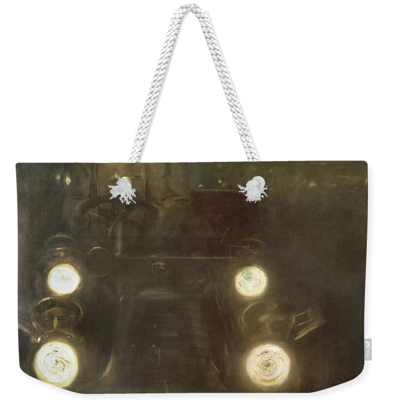 1909 Weekender Tote Bag featuring the photograph Spain: Automobile, 1909 by Granger