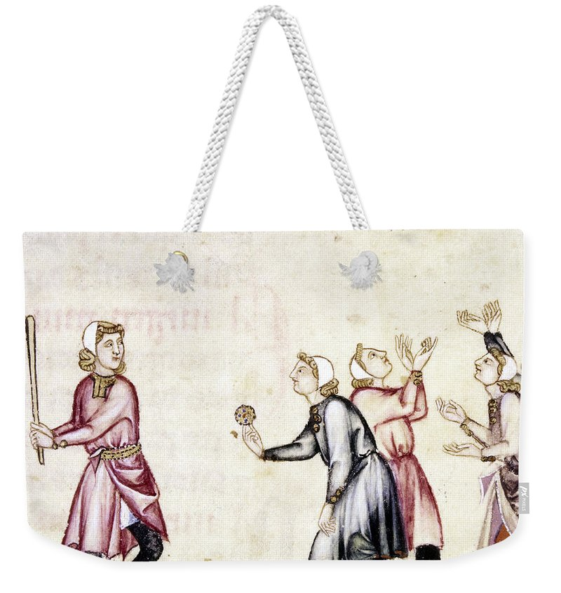 13th Century Weekender Tote Bag featuring the photograph Spain: Medieval Ballgame by Granger