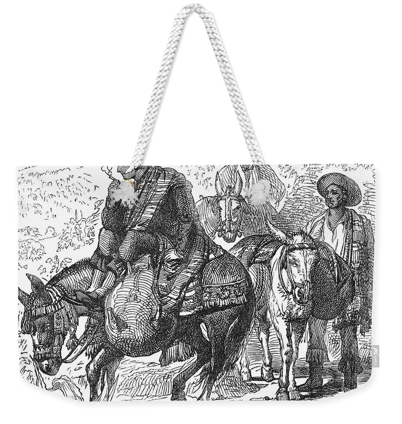 19th Century Weekender Tote Bag featuring the photograph Spain: Wine Transport by Granger