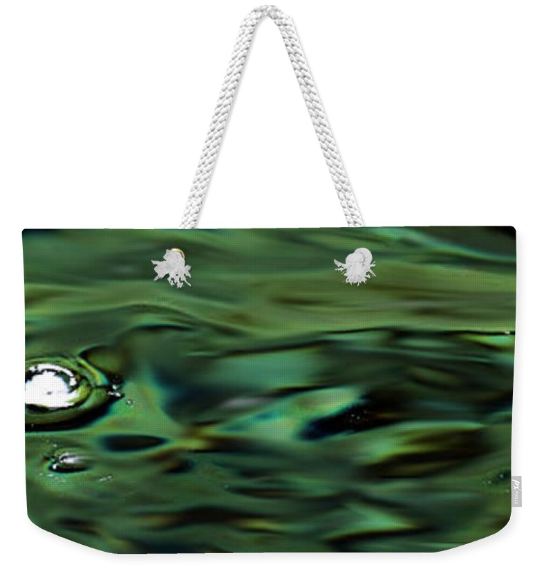 Flowing Water Weekender Tote Bag featuring the photograph Sparkling Waters by Marie Jamieson