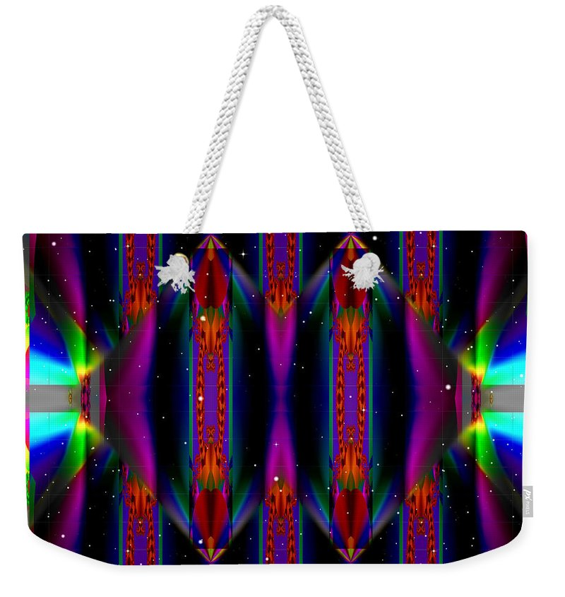 Ultra Fractal Weekender Tote Bag featuring the digital art Specular Mystery by Mario Carini