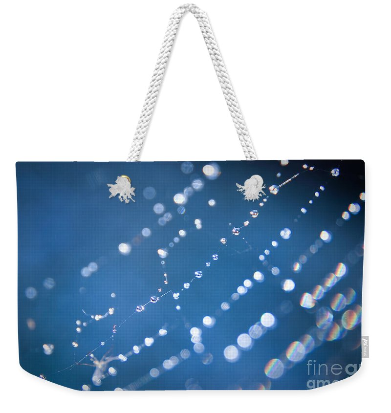 Yhun Suarez Weekender Tote Bag featuring the photograph Spider Web Bokeh 2.0 by Yhun Suarez