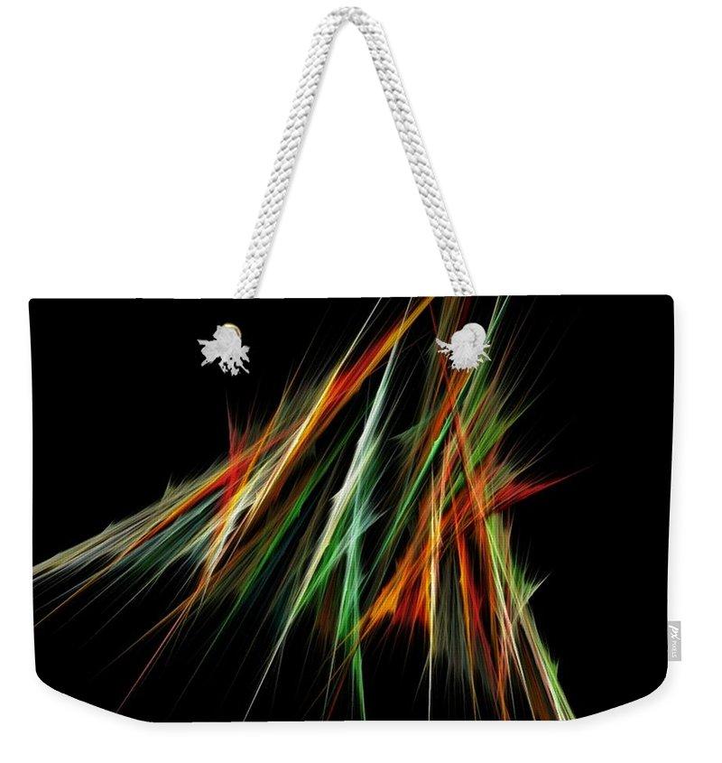 Spike Weekender Tote Bag featuring the digital art Spiked by Sara Raber