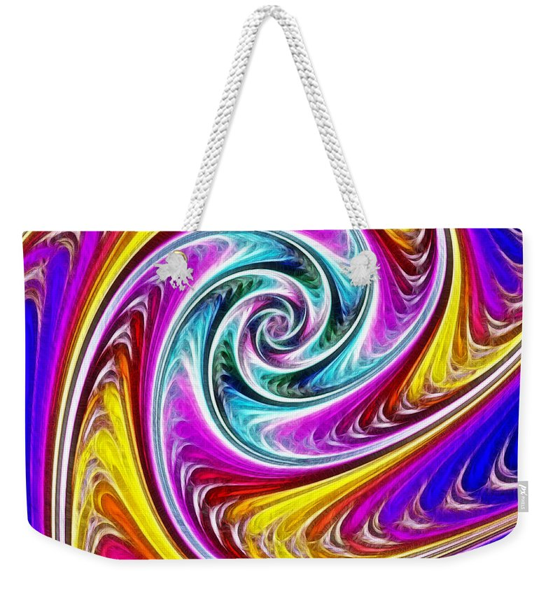 Spiral Weekender Tote Bag featuring the painting Spiral by Methune Hively