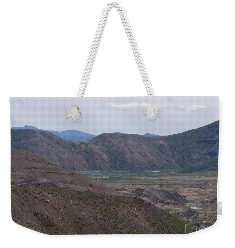 Mt St Helens Weekender Tote Bag featuring the photograph Spirit Lake At Mt. St. Helens by Charles Robinson