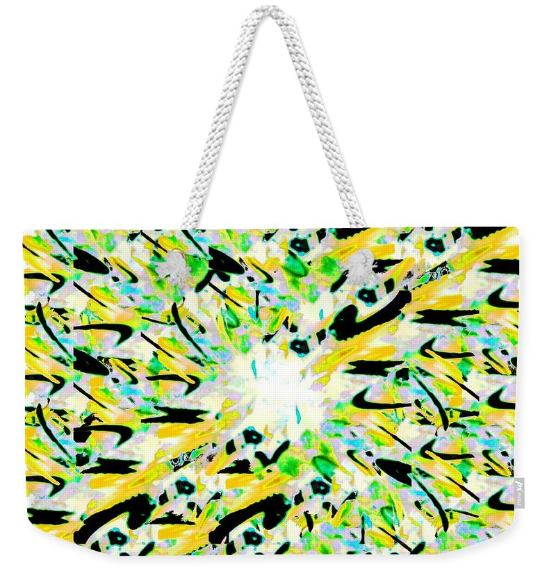 Splat Weekender Tote Bag featuring the digital art Splat 4 by Tim Allen