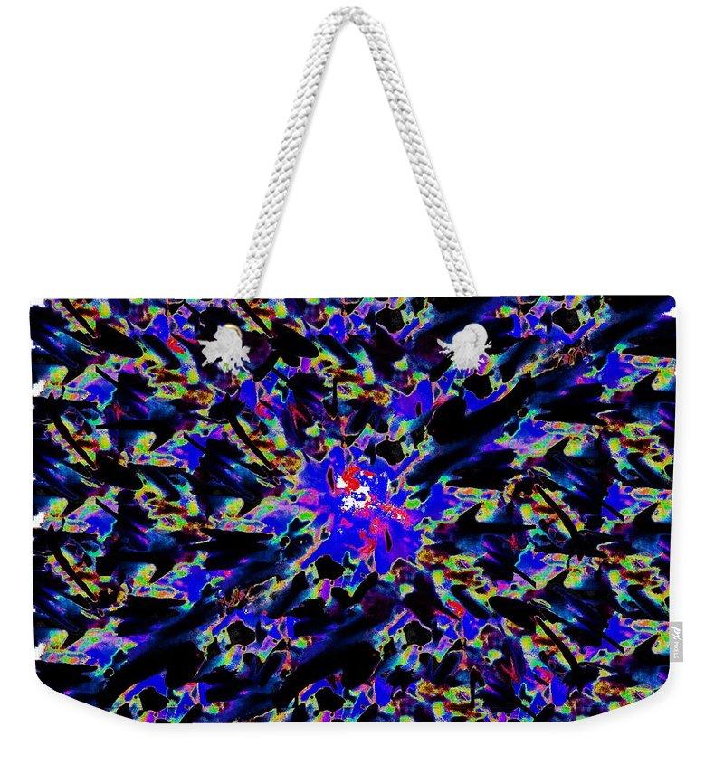 Splat Weekender Tote Bag featuring the digital art Splat 6 by Tim Allen