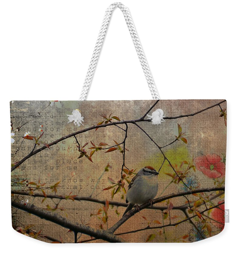 Spring Weekender Tote Bag featuring the photograph Spring Bird by Todd Hostetter