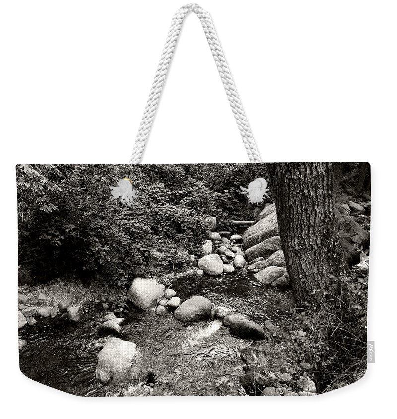 Landscape Weekender Tote Bag featuring the photograph Spring Creek II by Kathleen Grace