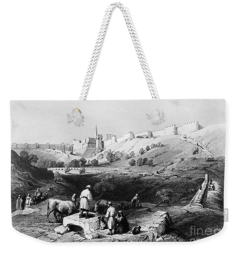 1843 Weekender Tote Bag featuring the photograph Spring Of Gihon by Granger