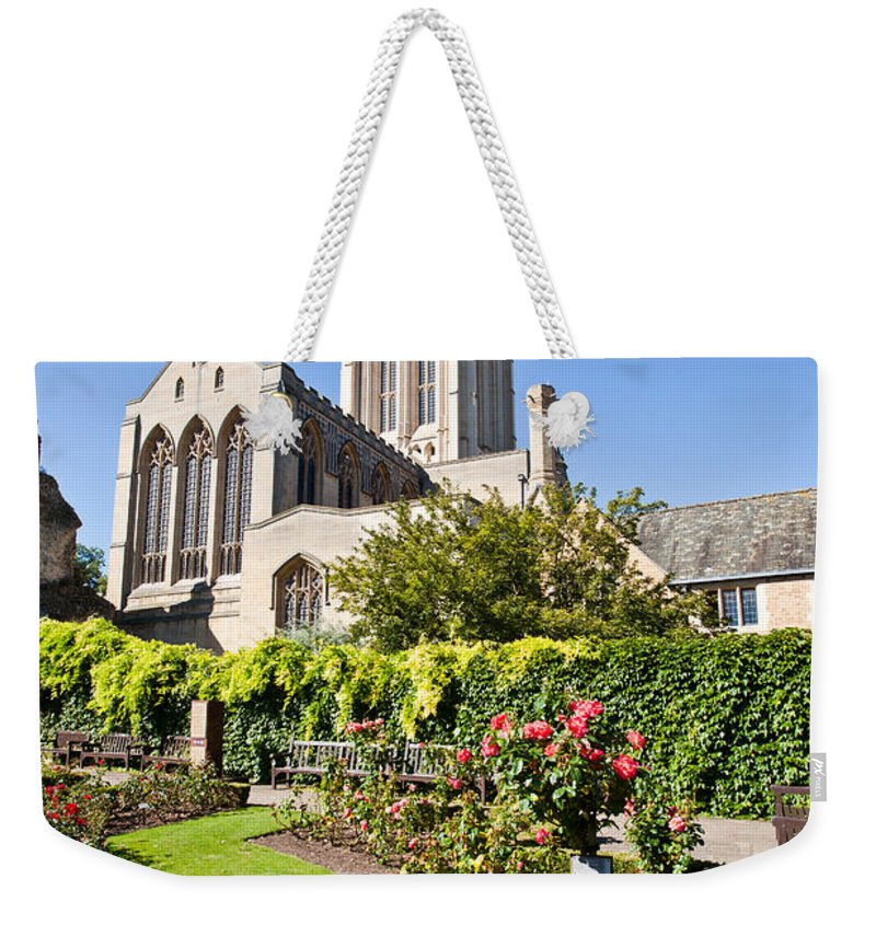Abbey Weekender Tote Bag featuring the photograph St Edmundsbury Cathedral by Tom Gowanlock
