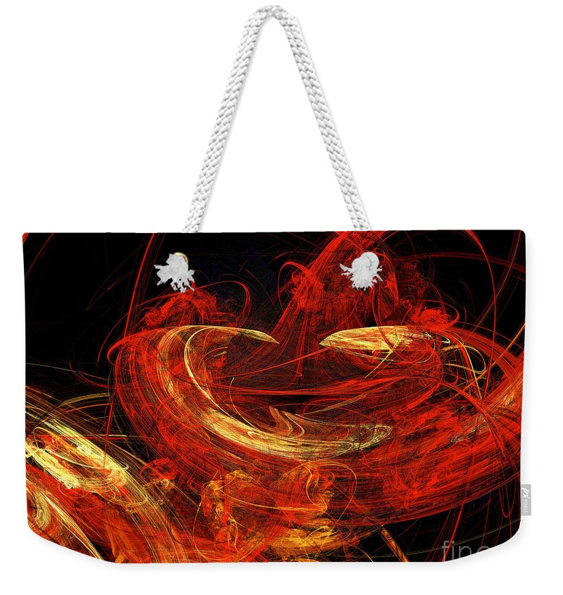 3d Weekender Tote Bag featuring the digital art St Louis Abstract by Andee Design