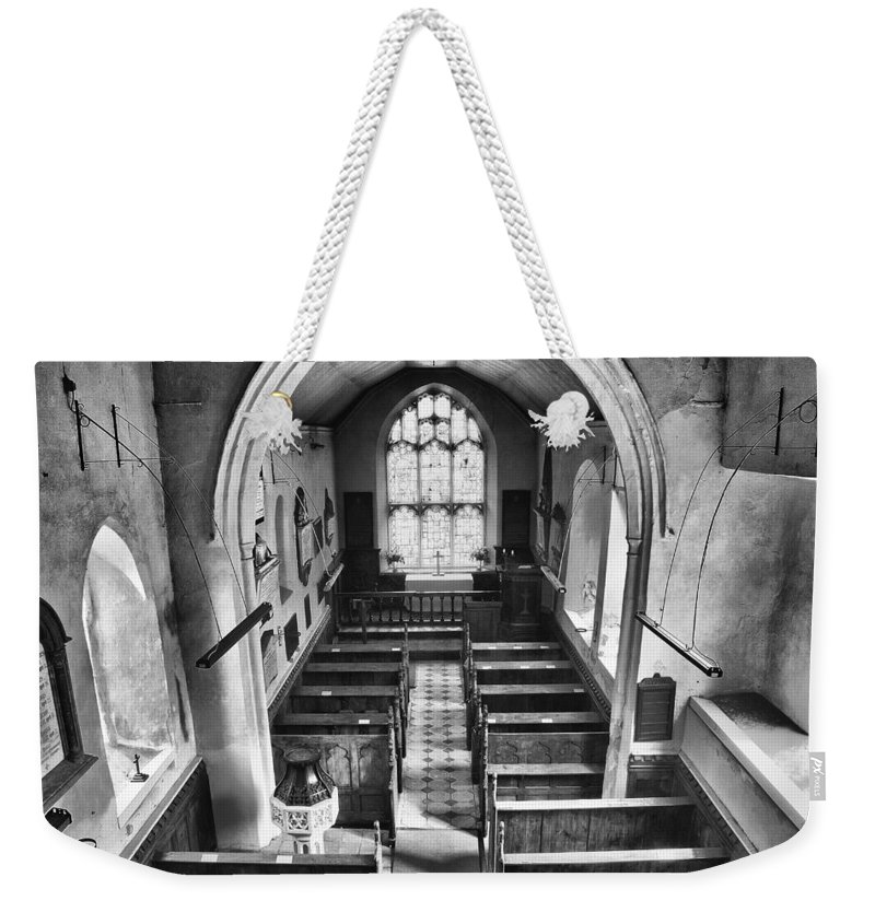 Church Weekender Tote Bag featuring the photograph St Margaret Herringfleet by Dave Godden