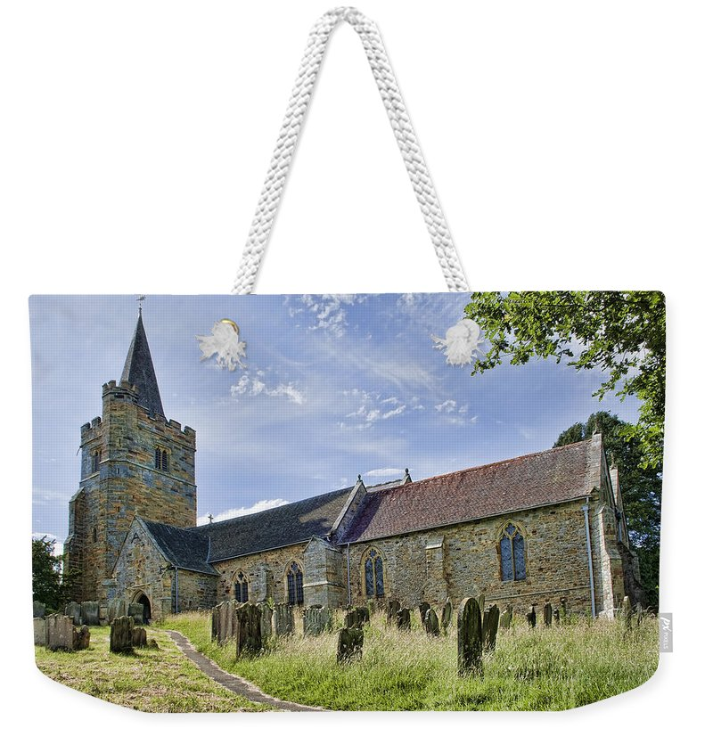 Church Weekender Tote Bag featuring the photograph St Mary Lamberhurst by Dave Godden