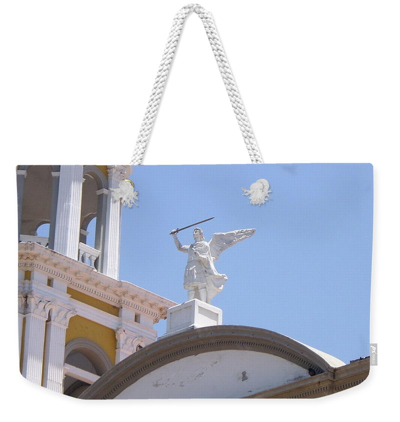 Aimee Mouw Weekender Tote Bag featuring the photograph St. Michael The Archangel by Aimee Mouw