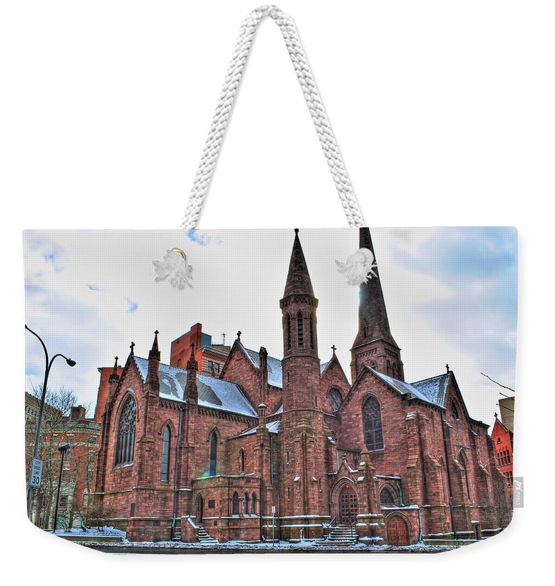 Weekender Tote Bag featuring the photograph St. Paul S Episcopal Cathedral by Michael Frank Jr