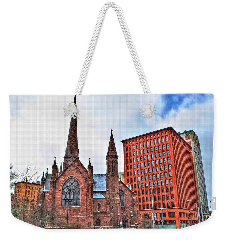 Weekender Tote Bag featuring the photograph St. Paul's Episcopal Cathedral by Michael Frank Jr