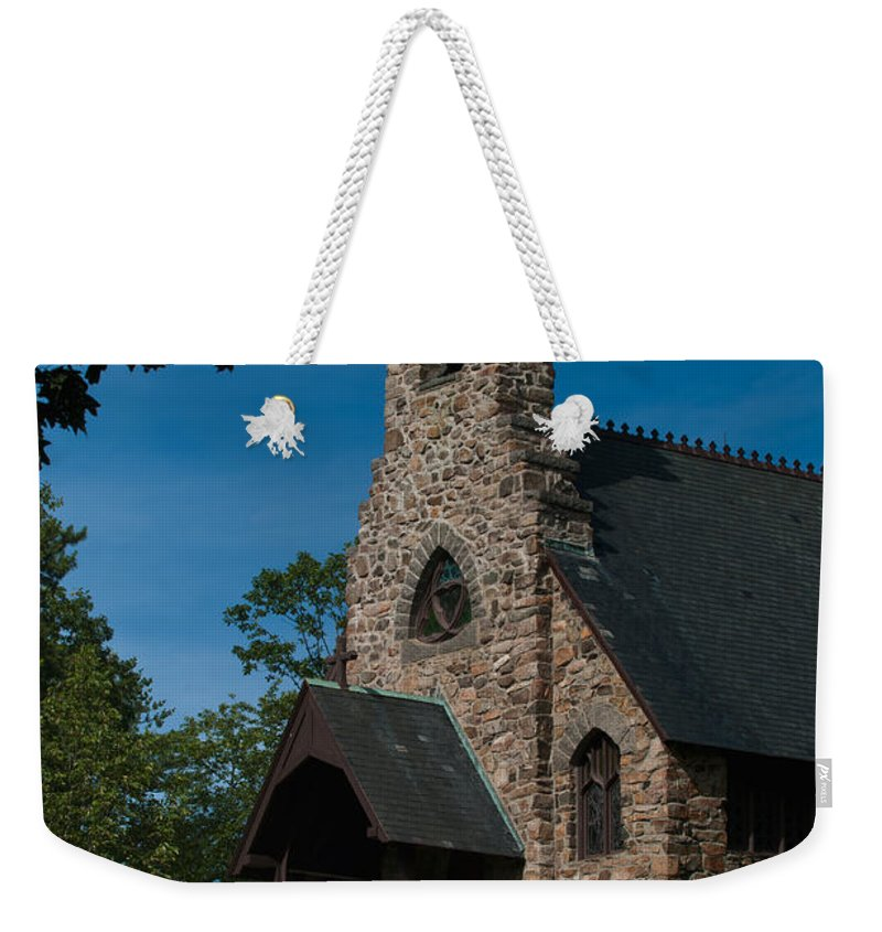 st. Peter's By-the-sea Protestant Episcopal Church Weekender Tote Bag featuring the photograph St. Peter's By-the-sea Protestant Episcopal Church by Paul Mangold