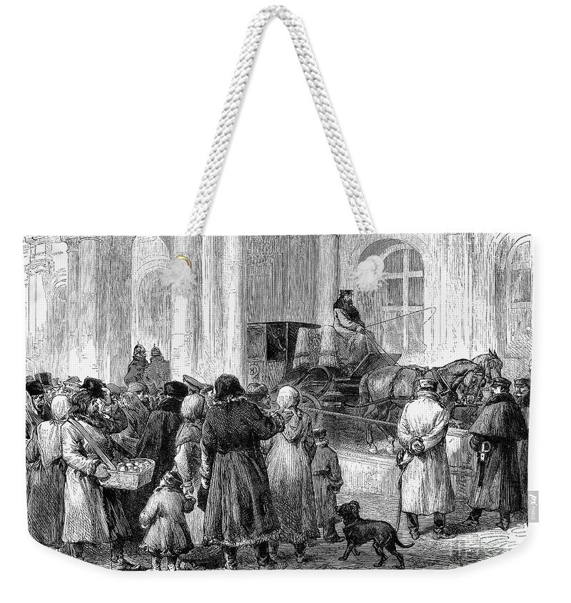 1881 Weekender Tote Bag featuring the photograph St. Petersburg, 1881 by Granger